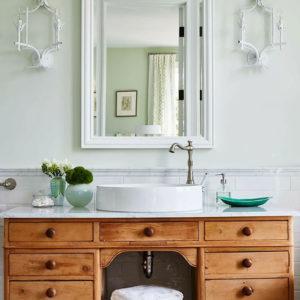 Ванная зеленой спальни.